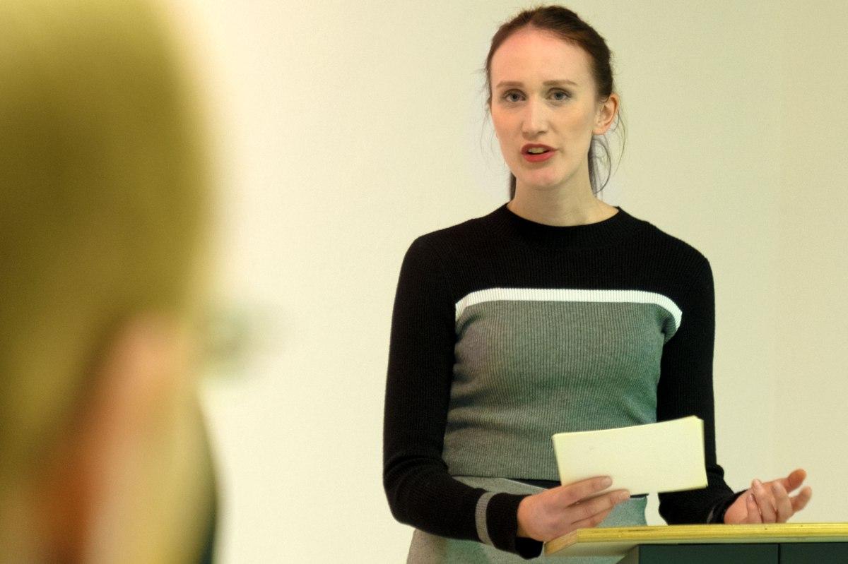 Bochum exhibition opening - Judith Brinkmann speaking
