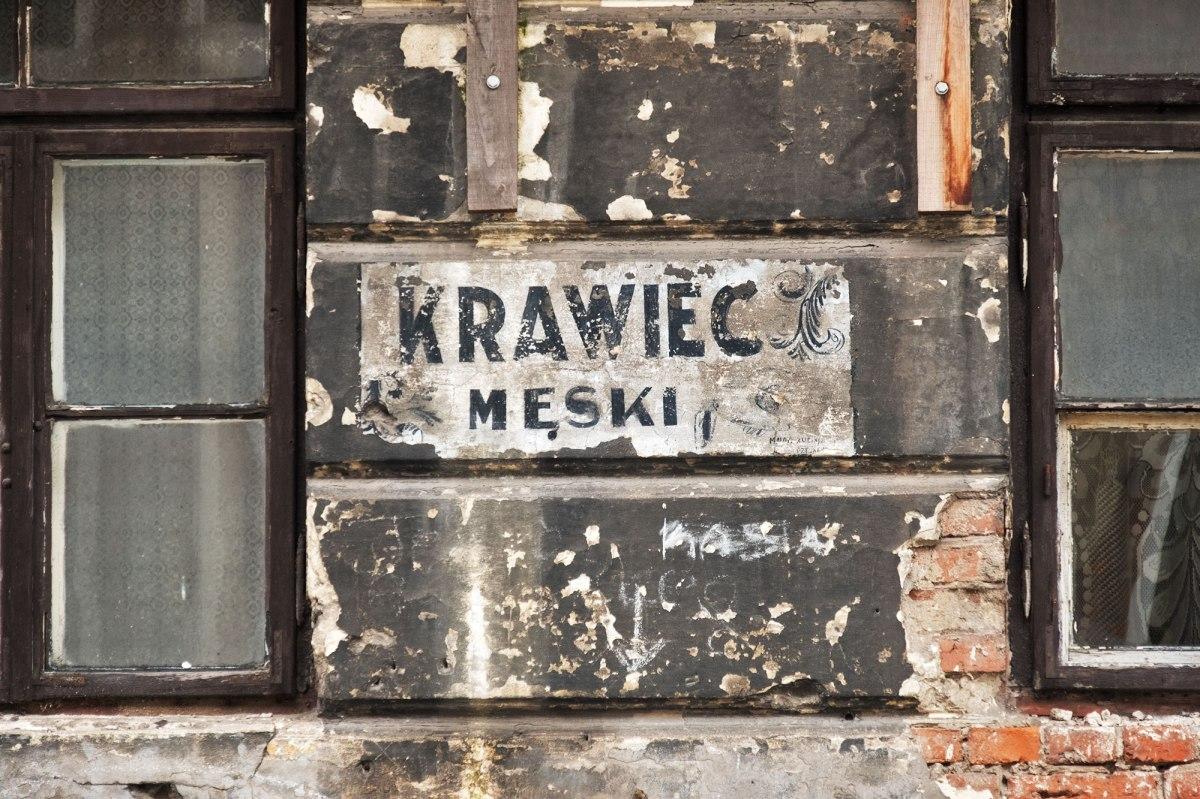 Old shop sign in Praga