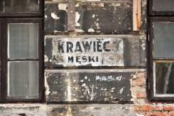 Old shop sign in Praga