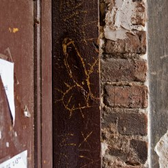 Trace of a mezuzah in Praga