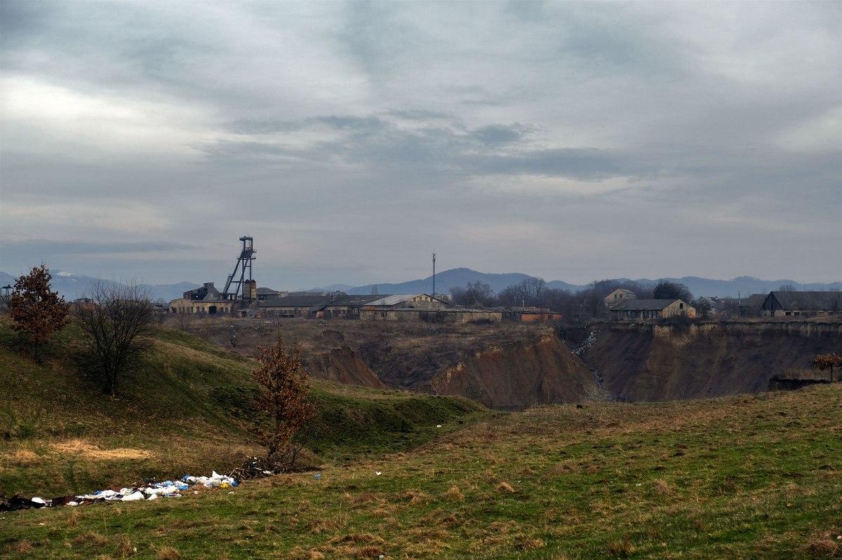 Solotvyno - collapsed salt mine
