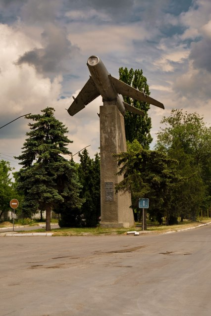 Soviet monument near the town of Floreşti