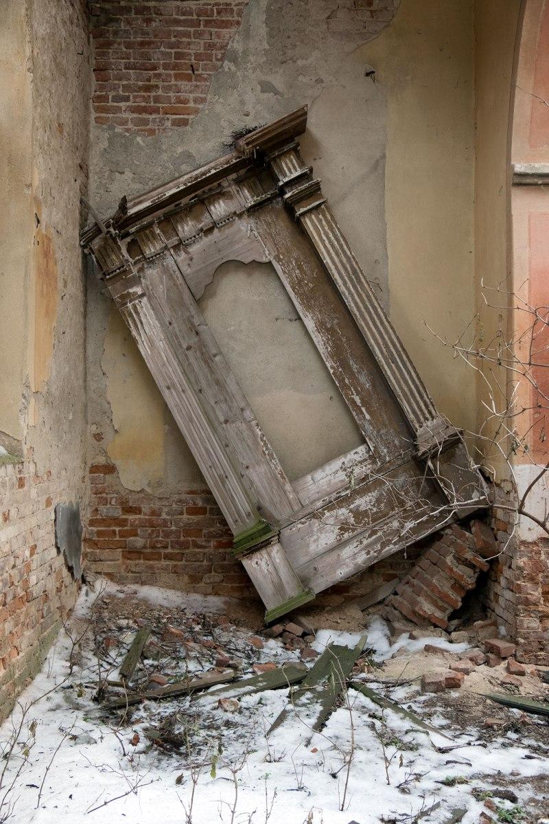 Ruins of a Polish church