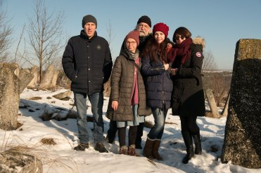 Our travel team says good bye - from left to right: Vasyl, Anna, Jay, Iryna and Marla