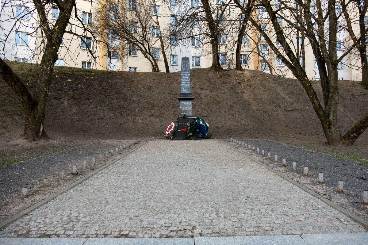 Minsk - memorial at a mass shooting site