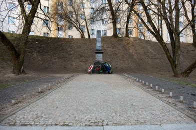 Minsk - memorial at a mass shooting site