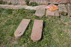Astryna synagogues - returned tombstones