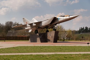 On the road - monument for a Soviet long distance bomber