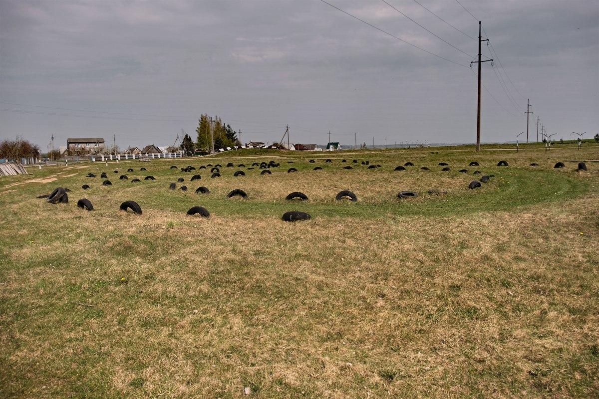 Lyakhavichy - Jewish cemetery, now a motodrome