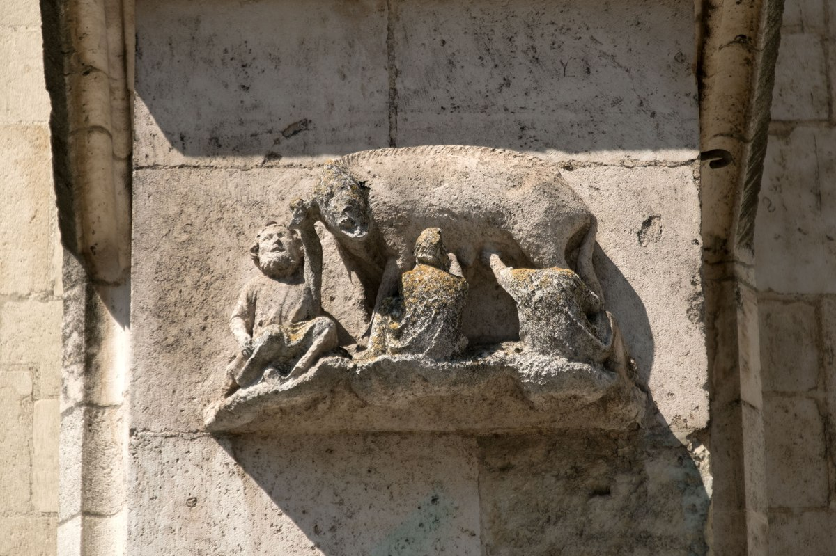 "Regensburg - ""Judensau"" at the facade of the cathedral"
