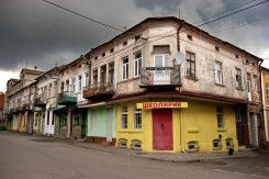 Radekhiv - former Jewish shops at the market