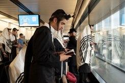 Vienna airport - traveling Hasidim