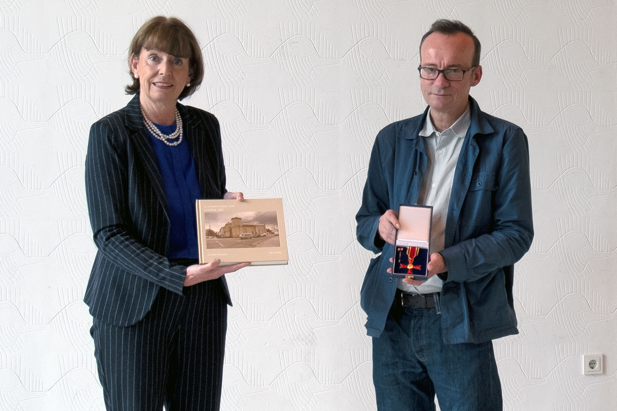 Cologne's Lord Mayor Henriette Reke and I during the award ceremony