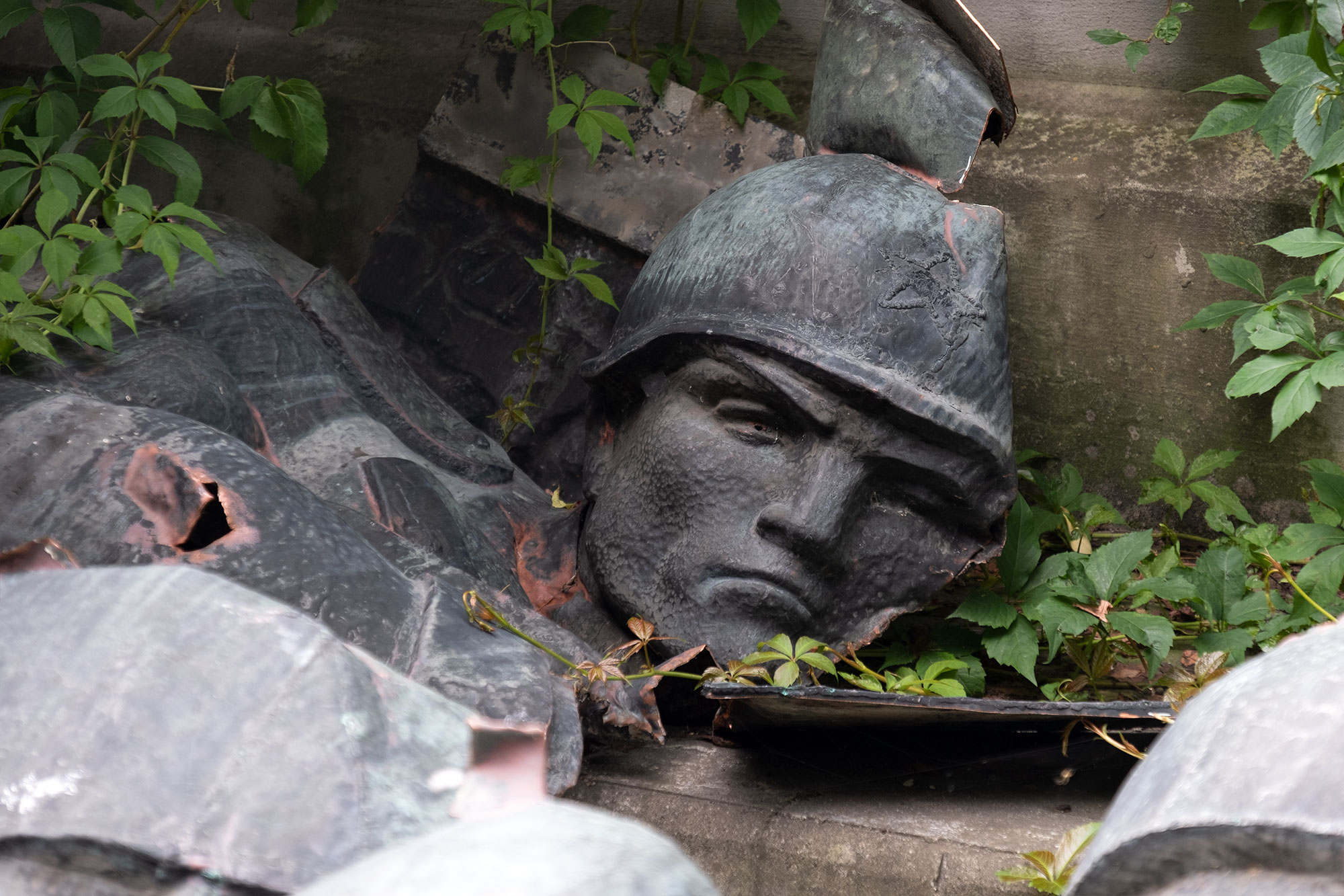 Lviv - Fragments of a Soviet monument at the Territory of Terror memorial site