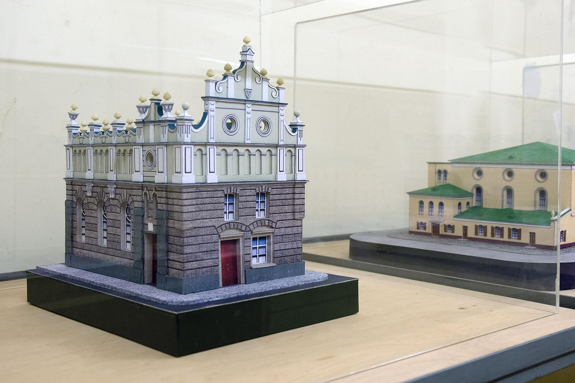 Lviv - Synagogue model in the Jakub Glanzer Shul