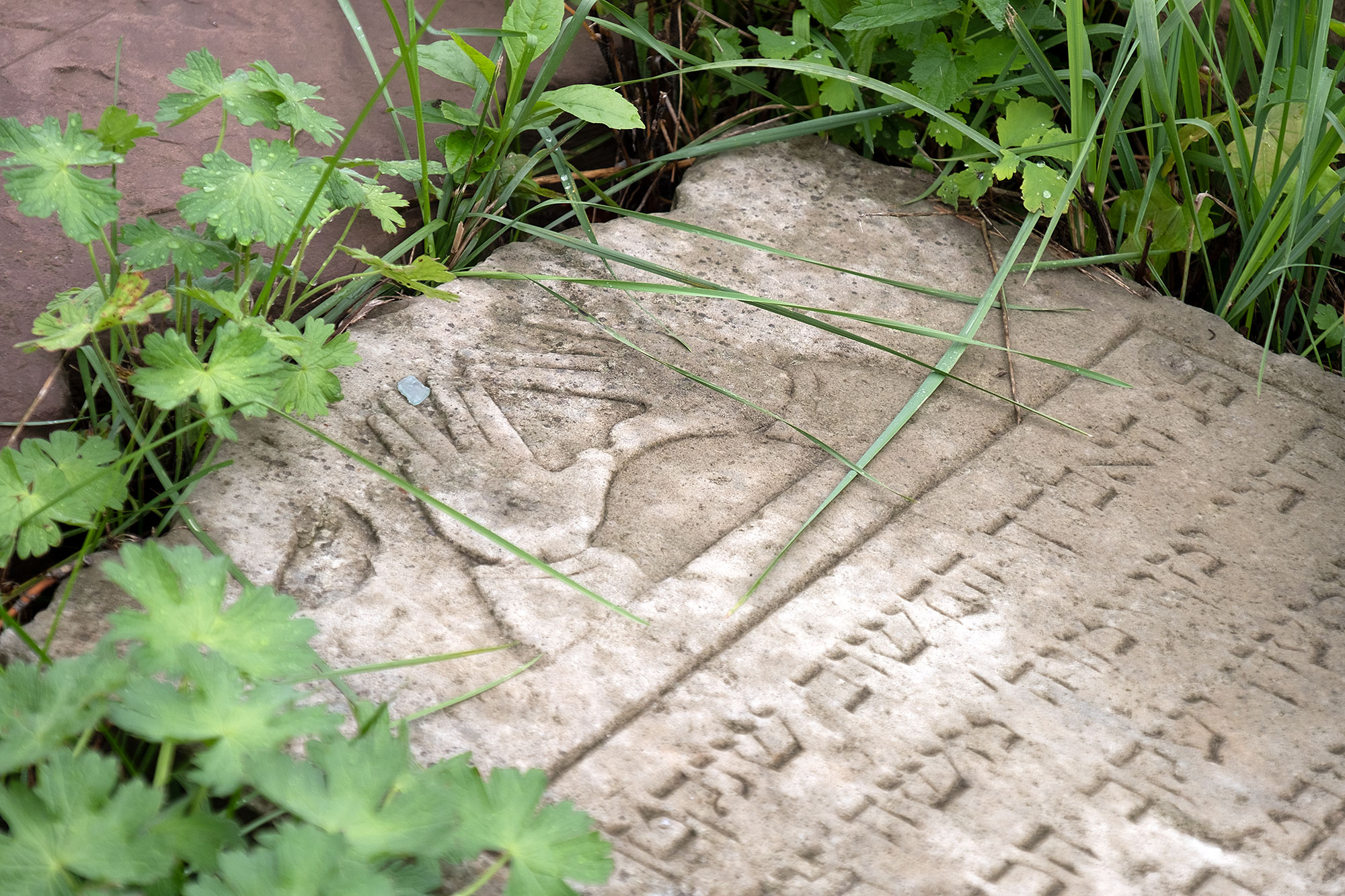 Lviv - Tombstone fragment at the Jewish cemetery